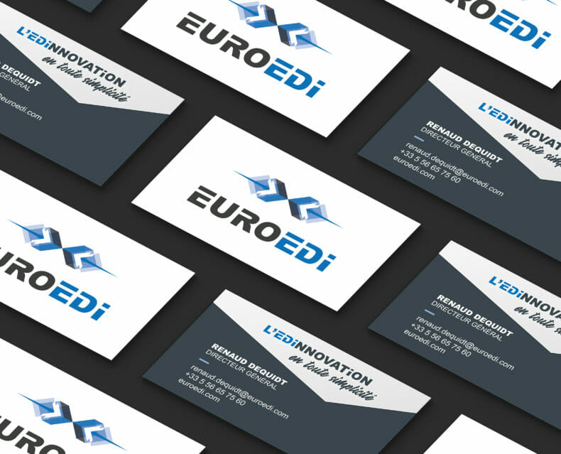 Modern Business Card Grid Mockup by Anthony Boyd Graphics